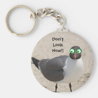 Crazy Eyed Sea Gull Keychain