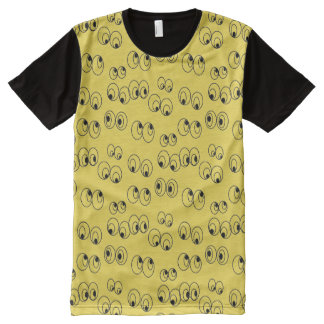 Crazy Eyes All Over Fun Pattern T-shirt