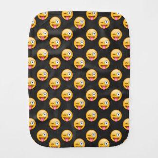 Crazy Face Emoji Burp Cloth