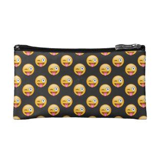 Crazy Face Emoji Cosmetic Bag