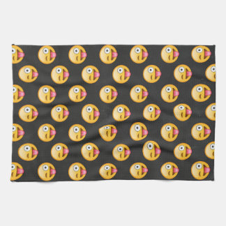 Crazy Face Emoji Kitchen Towel