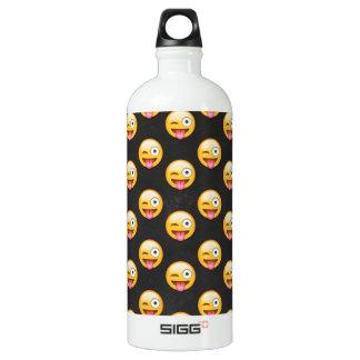 Crazy Face Emoji Water Bottle