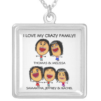 Crazy Family of Five Necklace