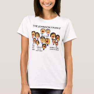 Crazy Family Reunion Fun Cartoon T-Shirt