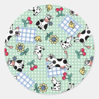 Crazy Farm Round Sticker