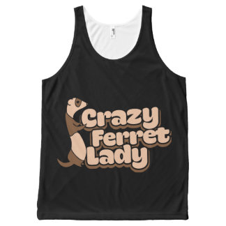 Crazy Ferret Lady All-Over-Print Tank Top