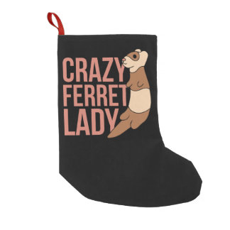 crazy ferret lady small christmas stocking
