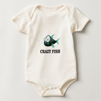 crazy fish yeah baby bodysuit