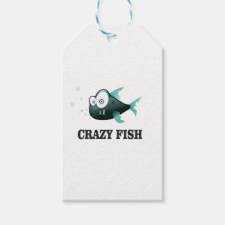 crazy fish yeah pack of gift tags