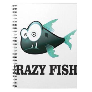 crazy fish yeah spiral notebook