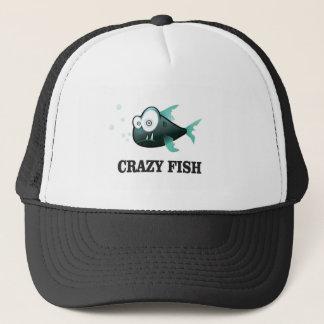crazy fish yeah trucker hat