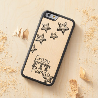 Crazy Fit Mama Carved Wood iPhone Case