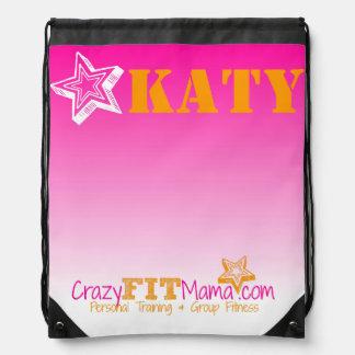 Crazy Fit Mama Customizable Workout Bag Backpacks