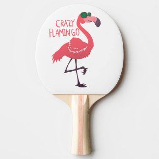 Crazy flamingo ping pong paddle