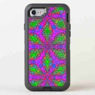 Crazy Florescent Pink Green Abstract OtterBox Defender iPhone 7 Case