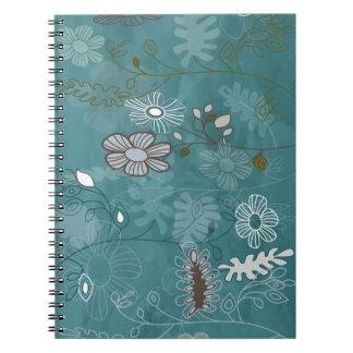Crazy flowers spiral notebook