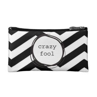 Crazy Fool Funny Cosmetic Bag