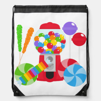 Crazy For Candy Drawstring Bag