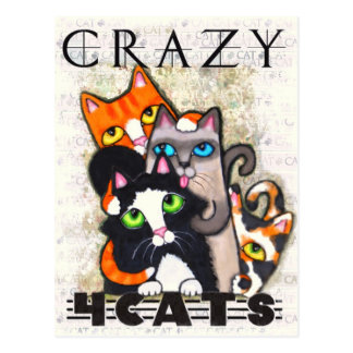 Crazy For Cats Postcard