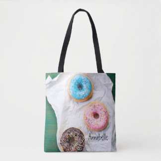 Crazy for Doughnuts | Personalized Tote Bag
