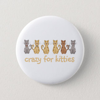 Crazy for Kitties 2 Inch Round Button