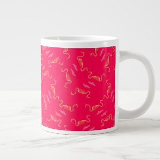 Crazy for Pink: Flamingo Lovers Large Coffee Mug