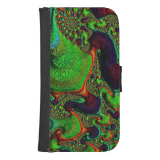 Crazy Fractal Samsung Galaxy4 Wallet Case
