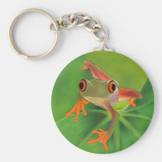 Crazy Frog Keychain with Background