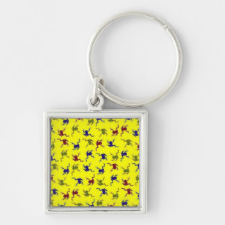 Crazy Frog Silver-Colored Square Keychain