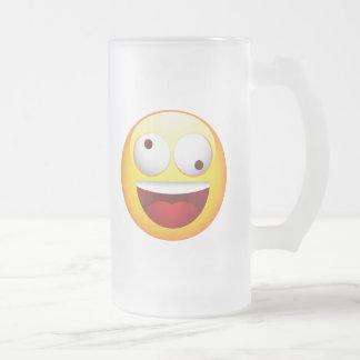 Crazy Frosted Glass Mug