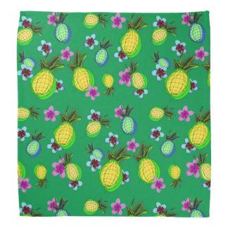 Crazy fun pineapples and flowers bandana