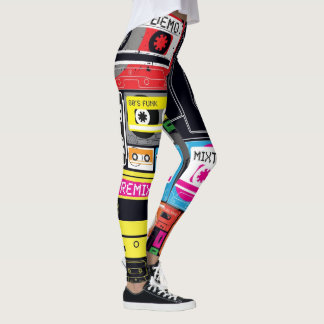 Crazy funky oldskool deck tape leggings