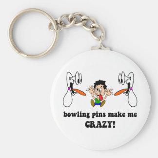 Crazy funny bowling keychain