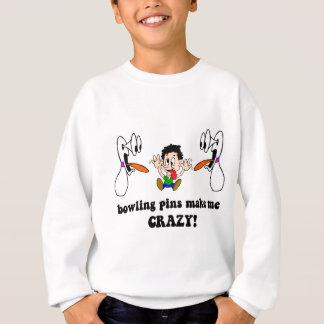 Crazy funny bowling sweatshirt