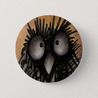 Crazy Funny Night Owl Art for Owl Lovers 2 Inch Round Button