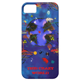 crazy funny world iPhone 5 cover