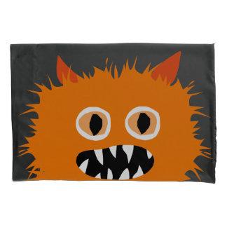 Crazy Furry Cute Orange Monster Kids Pillowcase