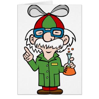 Crazy Genius Scientist Greeting Card