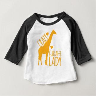 crazy giraffe lady baby T-Shirt
