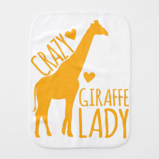 crazy giraffe lady burp cloth