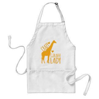 crazy giraffe lady standard apron
