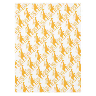 crazy giraffe lady tablecloth
