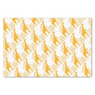 crazy giraffe lady tissue paper