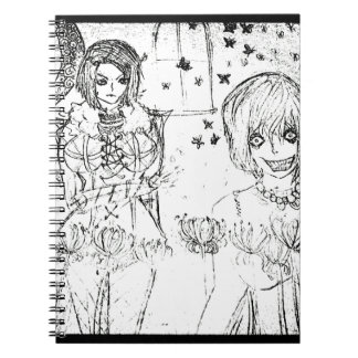 crazy girl and insane lovely girl notebook