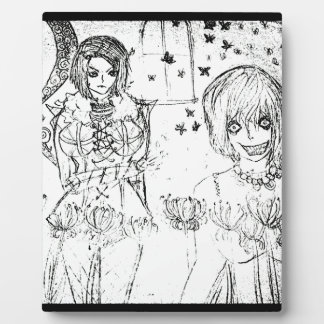 crazy girl and insane lovely girl plaque
