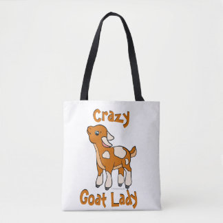 CRAZY GOAT LADY   by TotallyGoatally™ Tote Bag