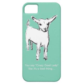 Crazy Goat Lady Cute Goat Kid Phone Case iPhone 5 Case
