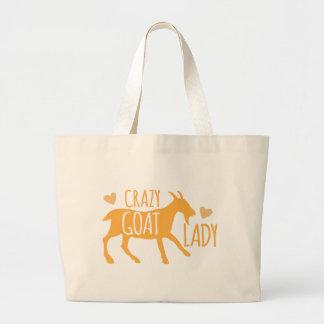 Crazy Goat Lady Large Tote Bag