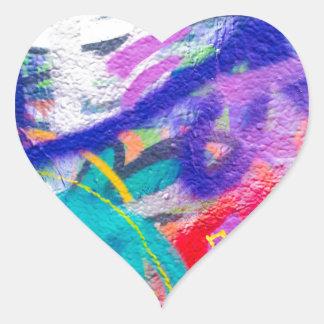 Crazy Graffiti Heart Sticker