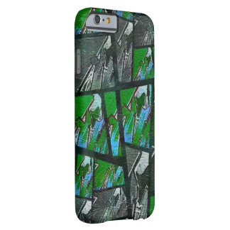 Crazy Green Black Abstract Texture Barely There iPhone 6 Case